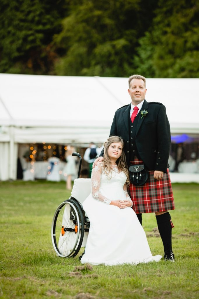 wheel chair bride
