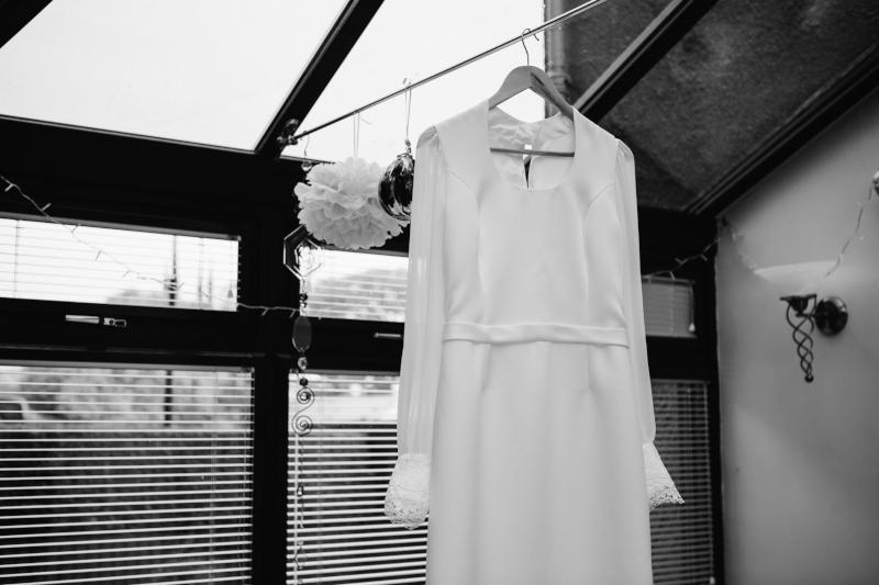 matte satin wedding dress