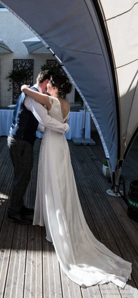 French - Irish Wedding Backview