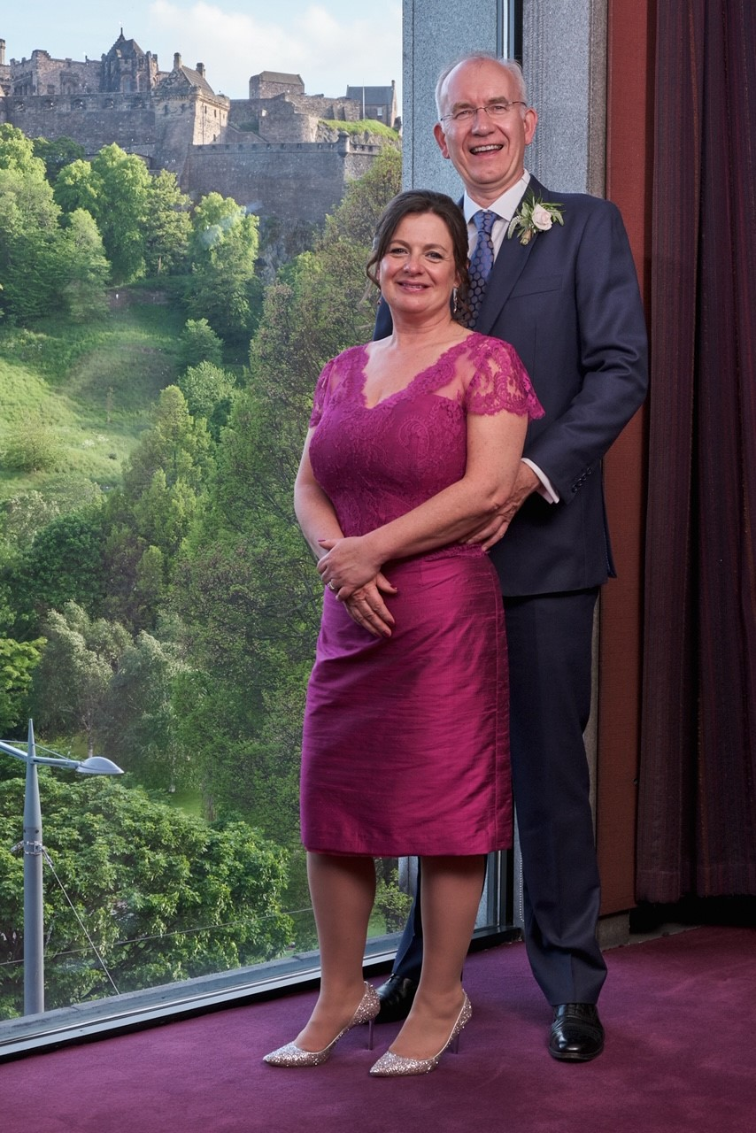 magenta wedding dress