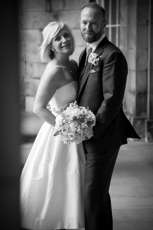 crisp silk wedding dress