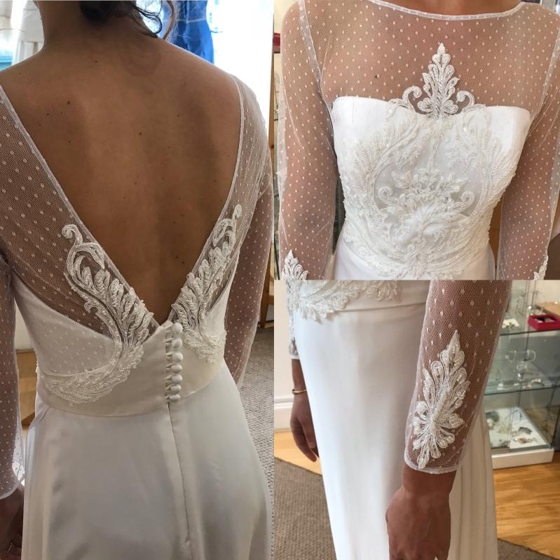 Detail shot of Bohemian style Bride