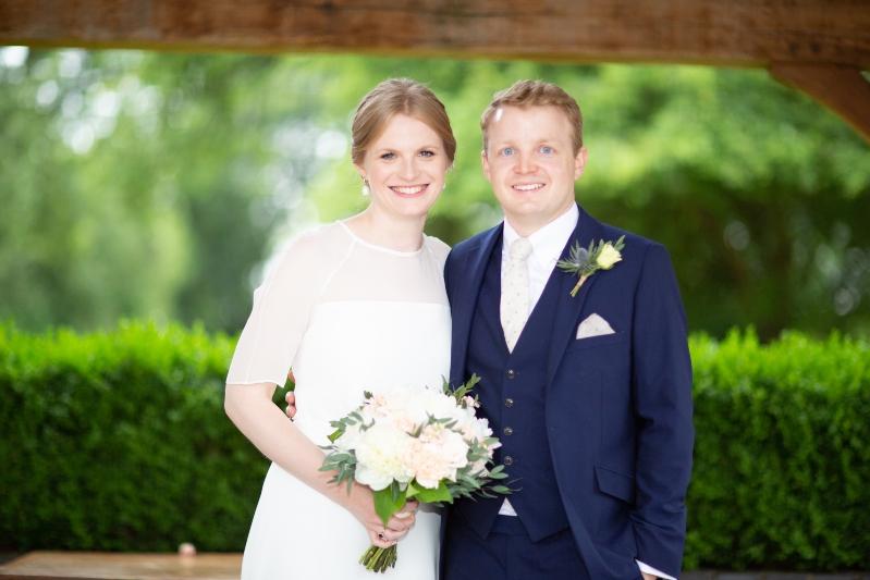 Soft silk wedding dress