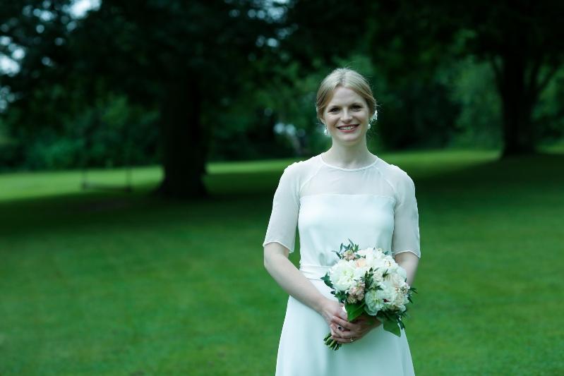 soft silk wedding dress bridal protrait