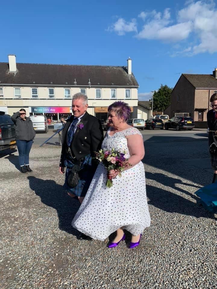 polka dot tulle wedding dress