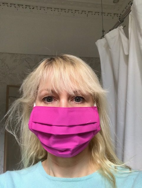 Face Mask Fuchsia pink, cotton, washabale