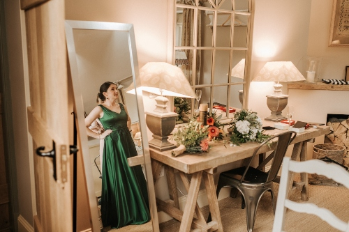 Green Wedding Dress, Bespoke wedding dress
