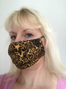 Face Mask, Face Cover, leopard print, sequins, beads