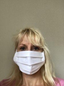 Children's brilliant white pure cotton face mask