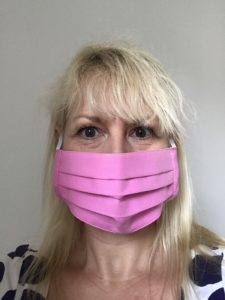 Face Mask Amelia Pink, cotton, reusable