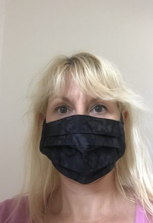 Face Mask Black Marble, washable, reusable, cotton with built in filter