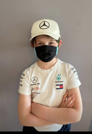 Mercedes F1 inspired face mask, cotton, washable