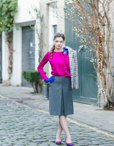 a-line wool skirt. Instagram give away