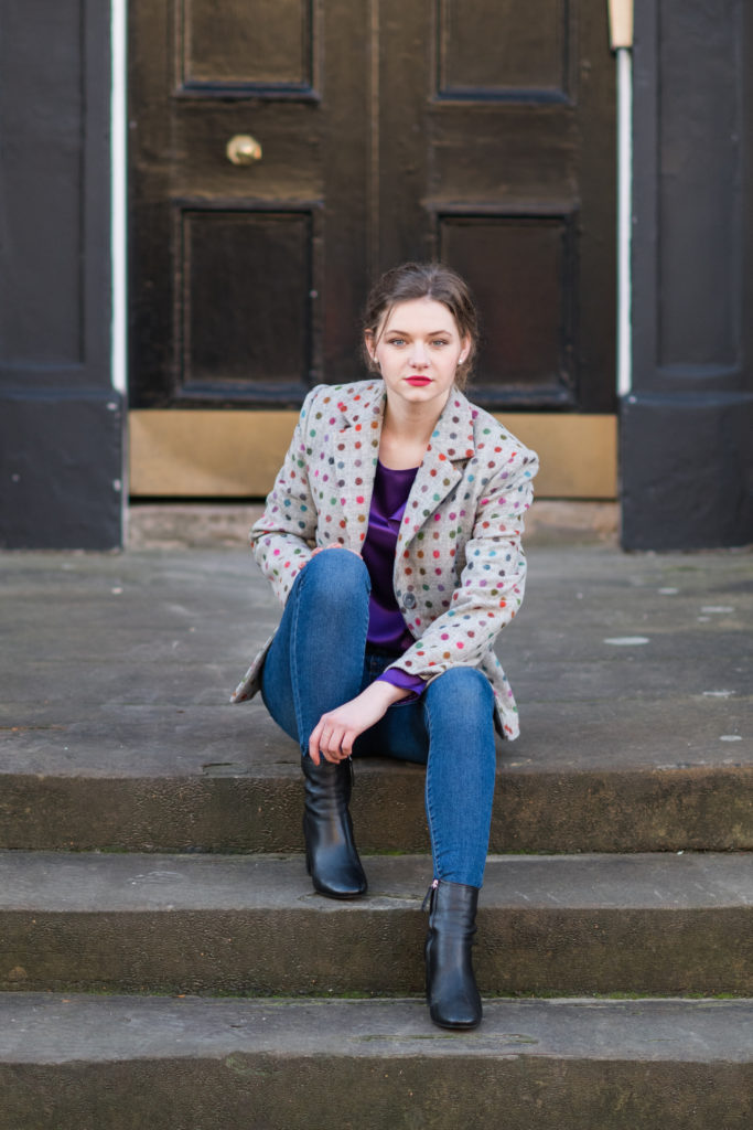dotted tweed jacket, instagram give away competition