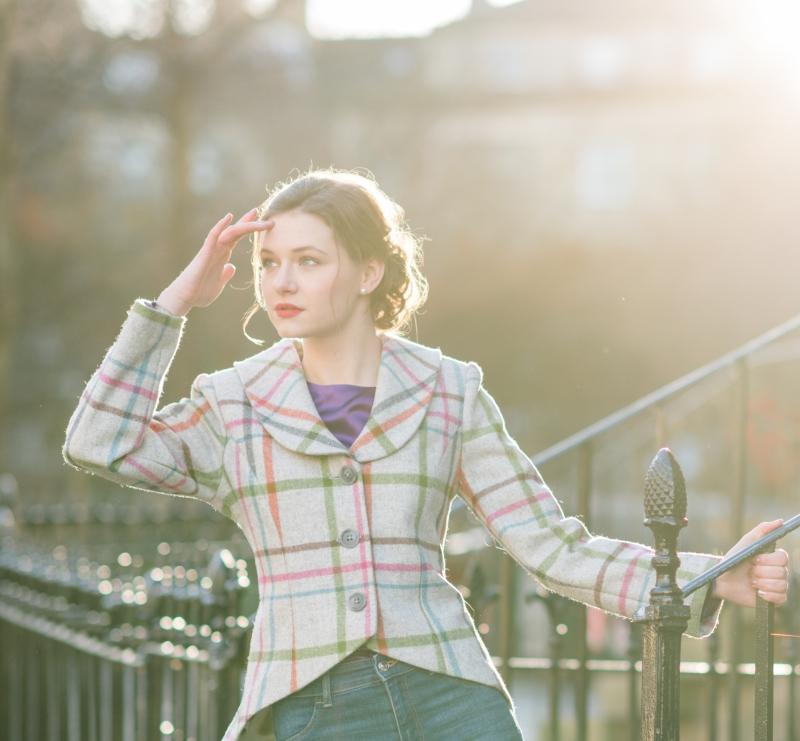 tweed jacket with peplum, instagram give away competition