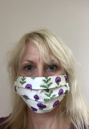 Face mask Scottish Thistle, washable
