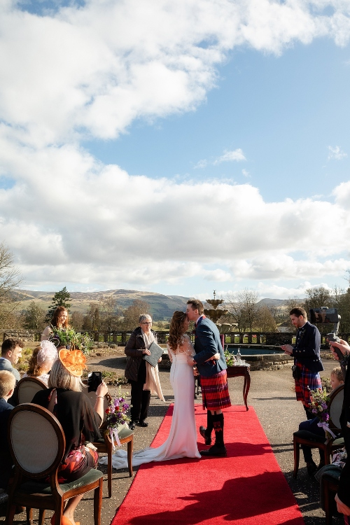 Intimate outdoors ceremony at Gleneagles