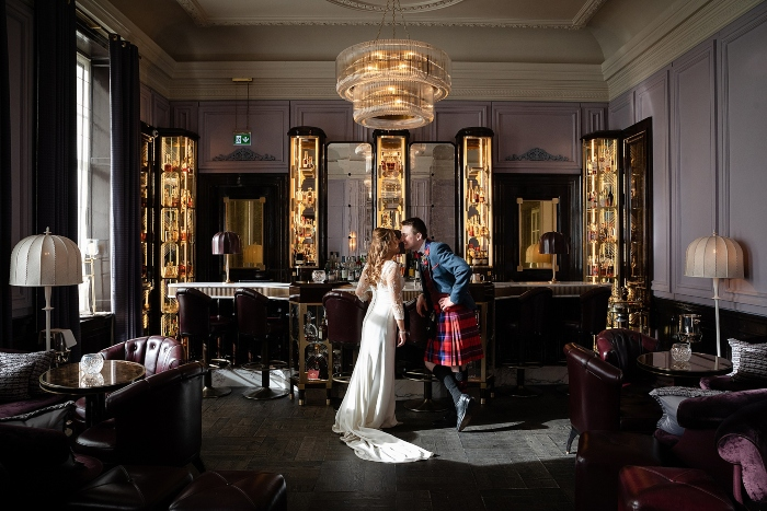intimate wedding at Gleneagles