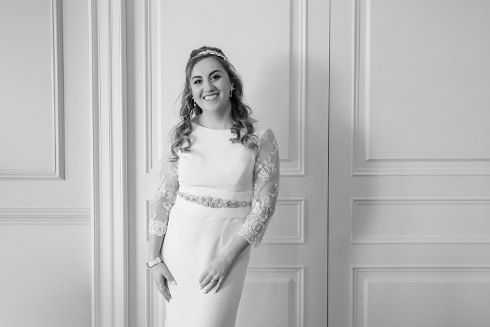 Intimate wedding at Gleneagles, bridal portrait