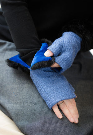 fingerless gloves airforce blue