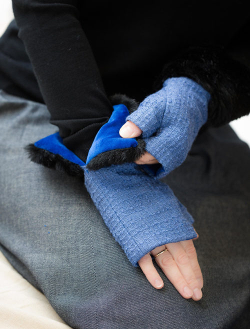 fingerless gloves airforce blue