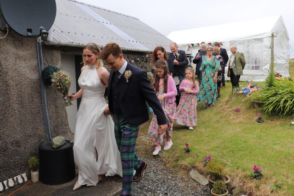 the bridal party at Shetland Wedding