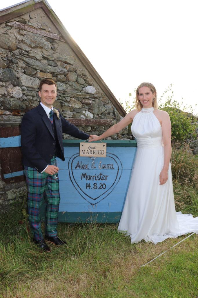 Just Married Micro wedding Shetland