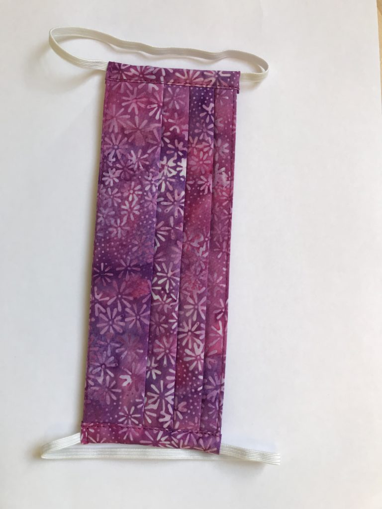 purple and magenta batik face mask