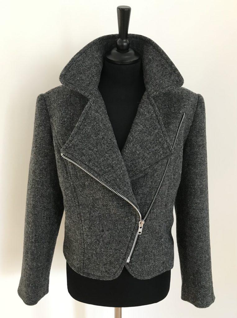 harris tweed biker jacket