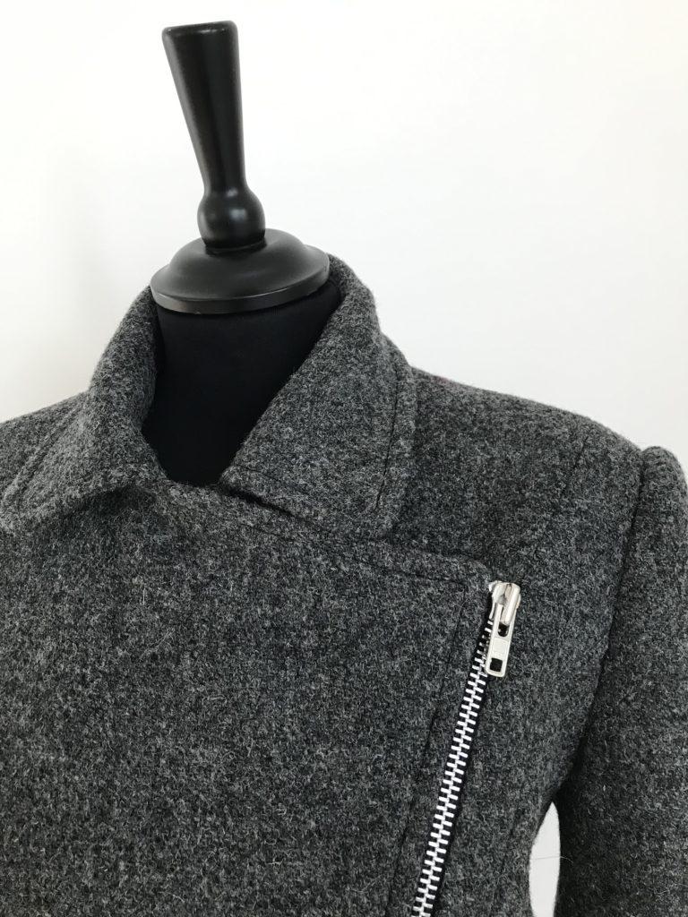 Harris Tweed Biker jacket, closed up