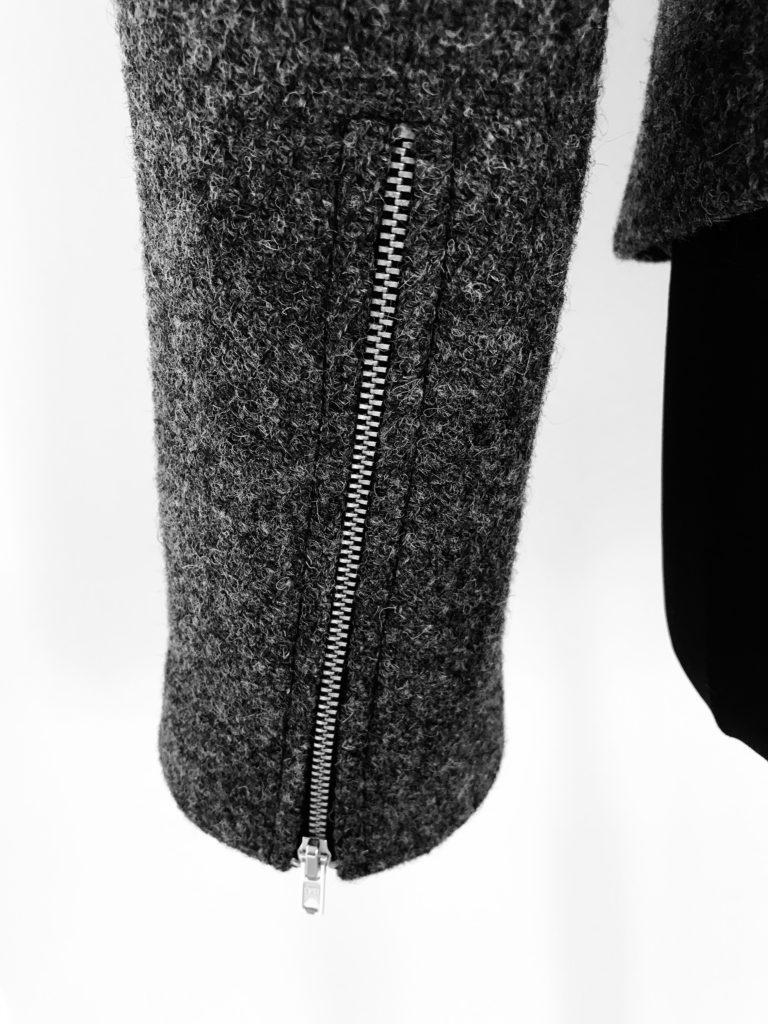 Zip up sleeve detail