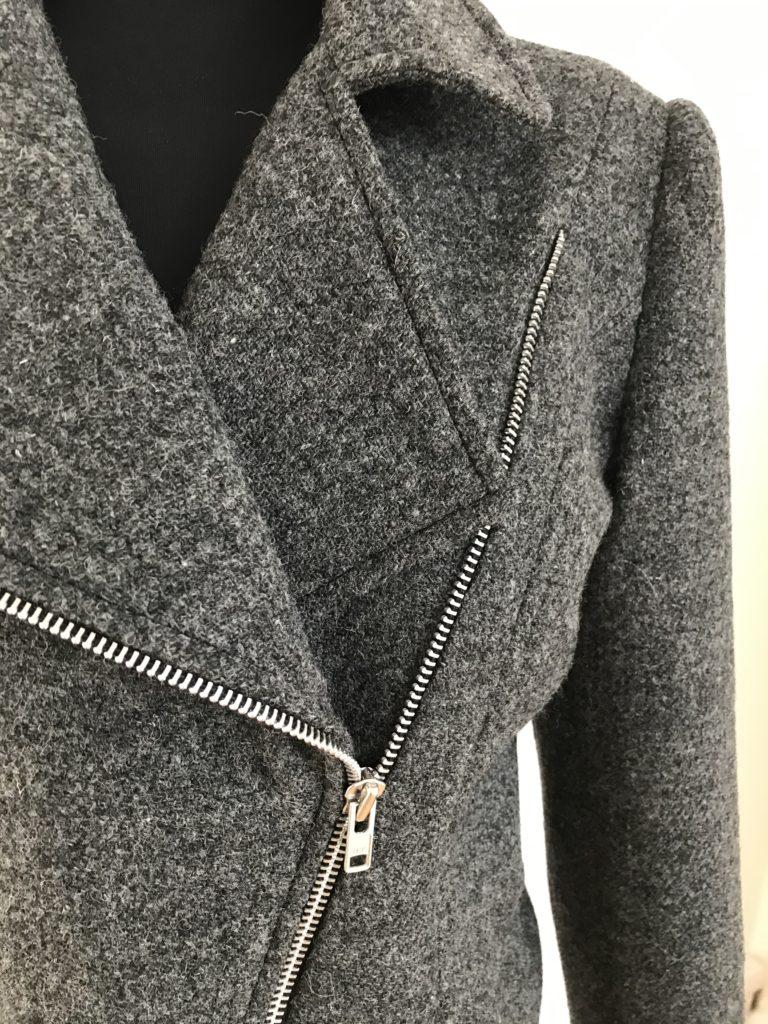 Harris Tweed Biker Jacket with zip