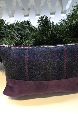 Shop local gift guide Purple Harris Tweed Bag
