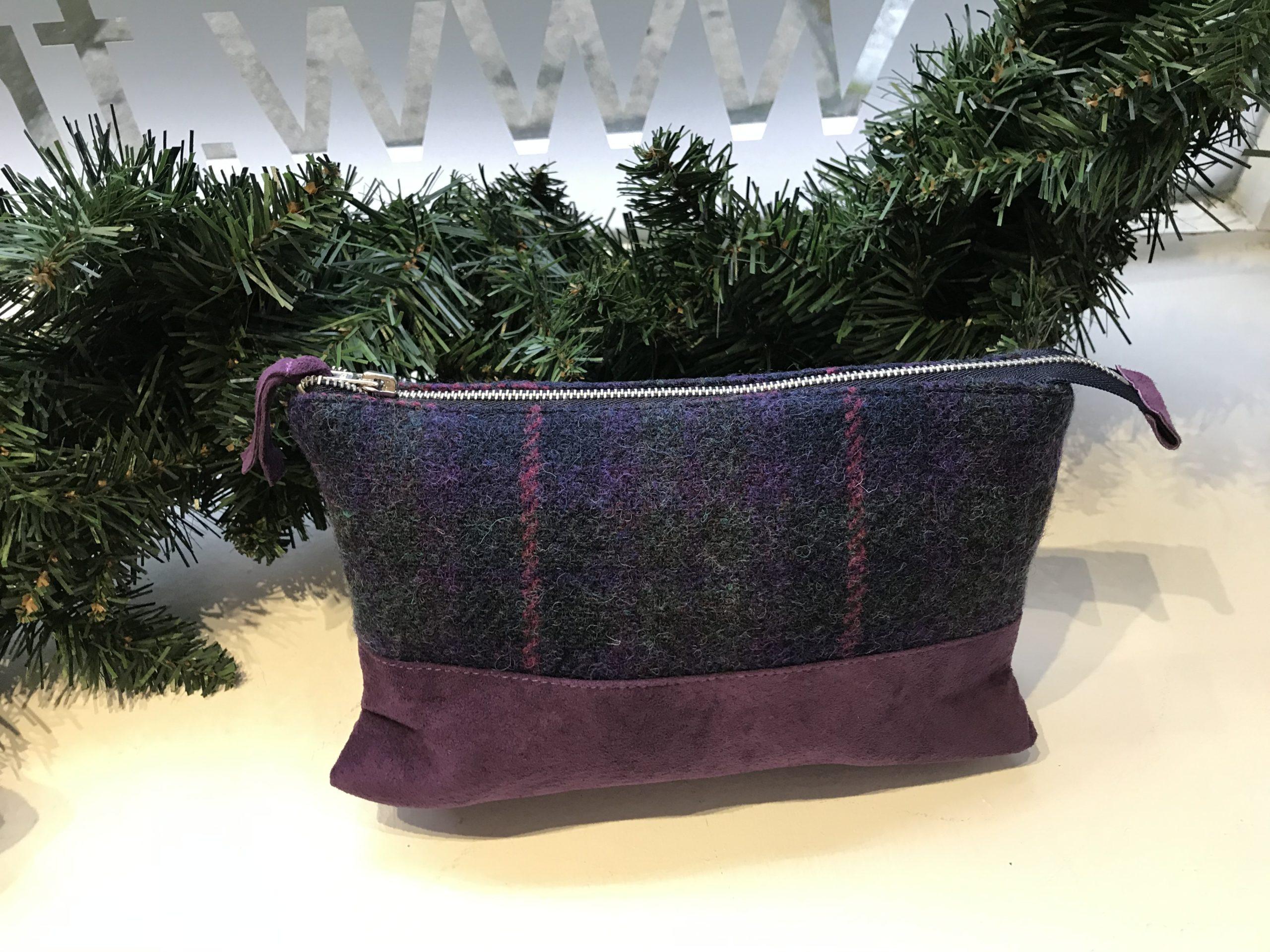 Purple Harris Tweed Bag