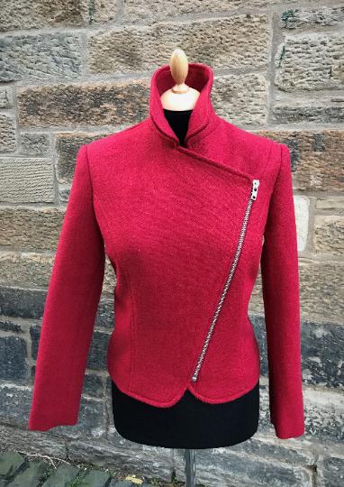 harris tweed biker jacket collar uo