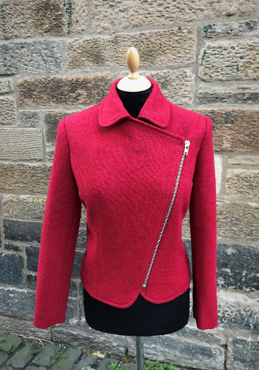 Harris Tweed Biker Jacket
