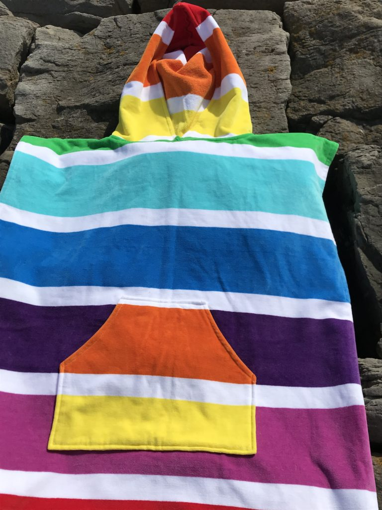 changing towel rainbow