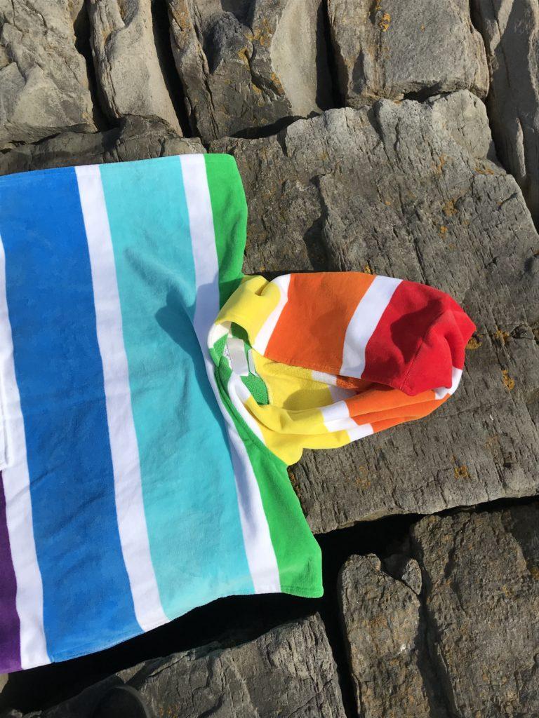 changing towel rainbow hood