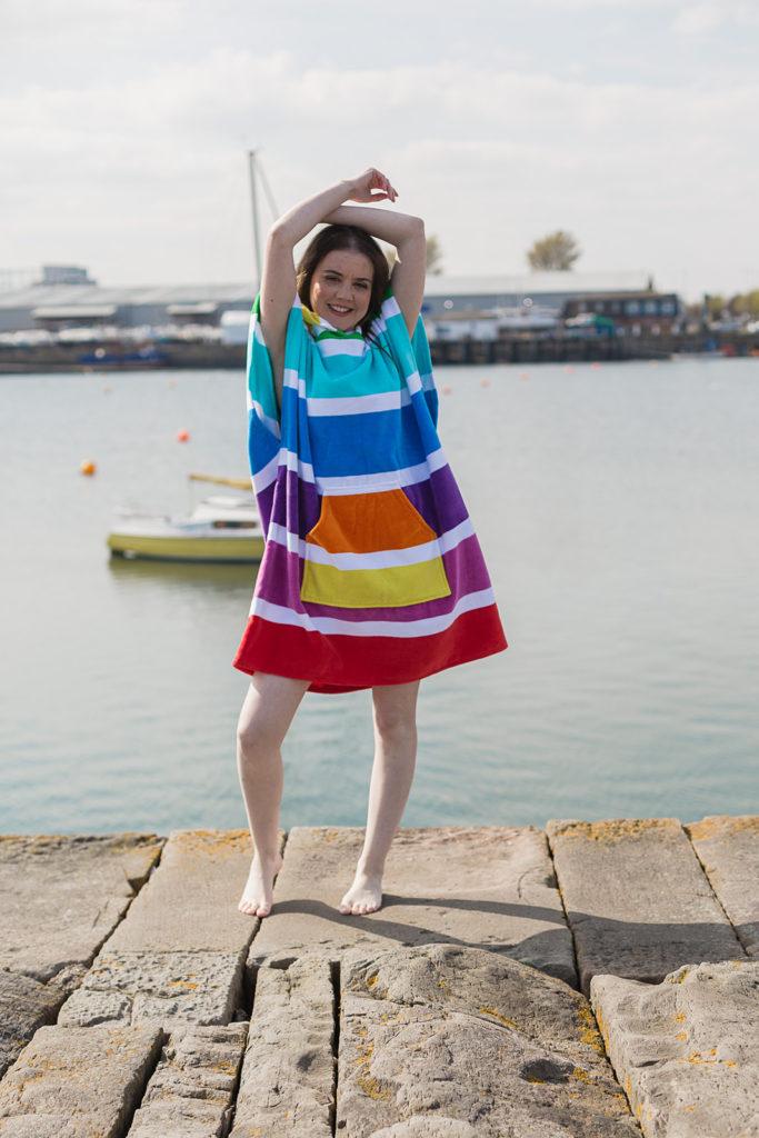 rainbow beach changing robe