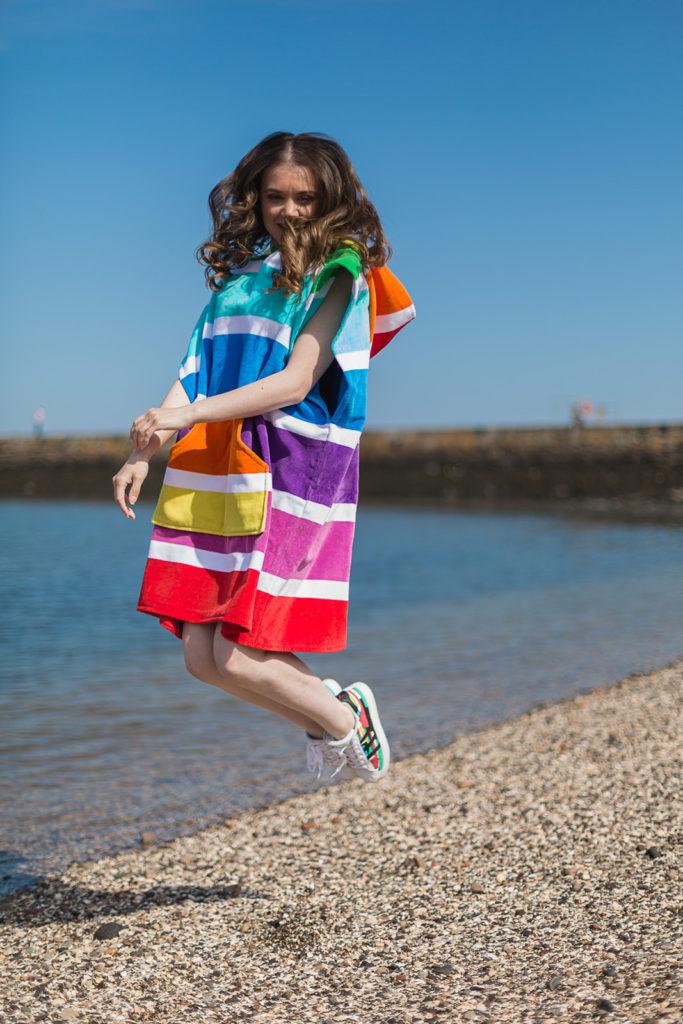 rainbow beach poncho
