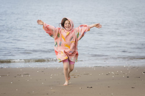 coral shell changing robe