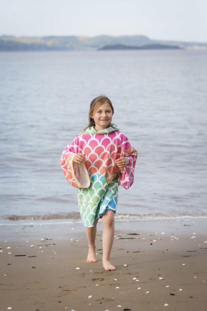 changing towel in mermaid design