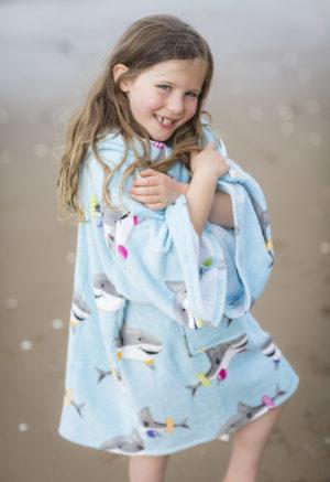 pale blue beach poncho