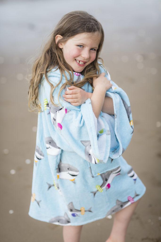 drying robe blue