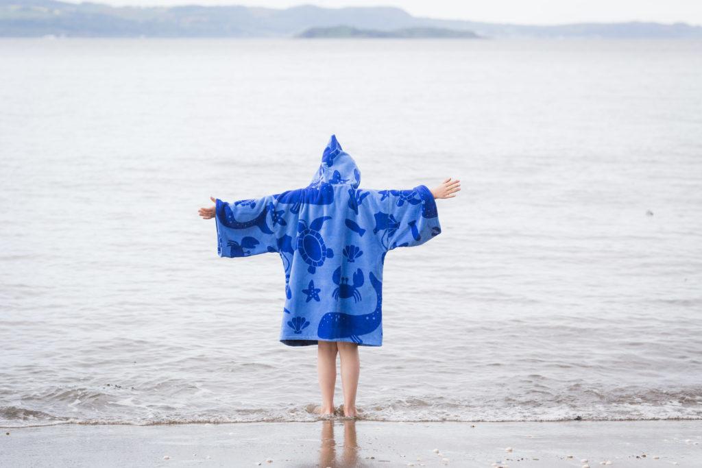 sea creature beach towel