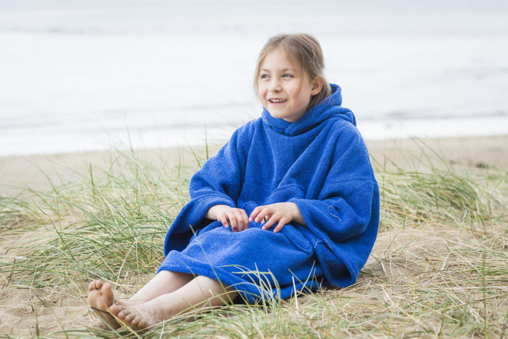 beach poncho royal blue
