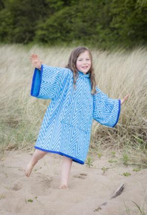 changing towel turquoise chevron
