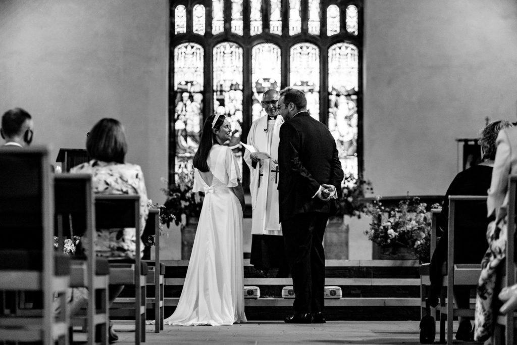 silk wedding dress lake district wedding