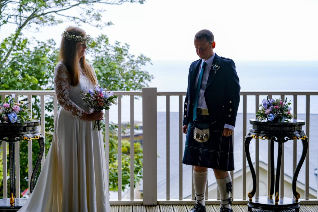 micro wedding at the boathouse