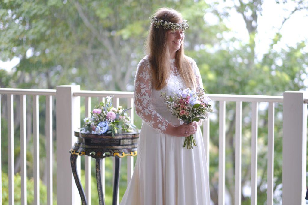 bride at micro wedding